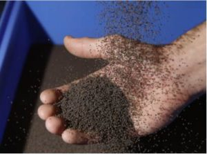 Ceramic particles for direct absorption of concentrated solar radiation