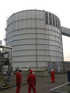 Inside a silo of 30,000 t